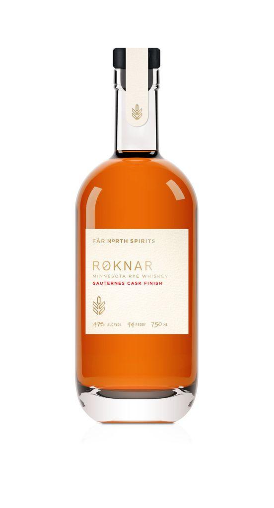 """Rye Whiskey Far North Spirits """"Roknar"""" Sauternes Cask Finish Rye Whiskey 750ml"""