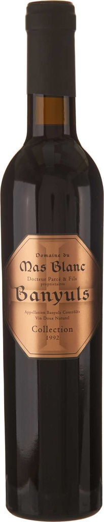"Dessert Wine Domaine du Mas Blanc ""Collection"" Banyuls 1992 375ml"