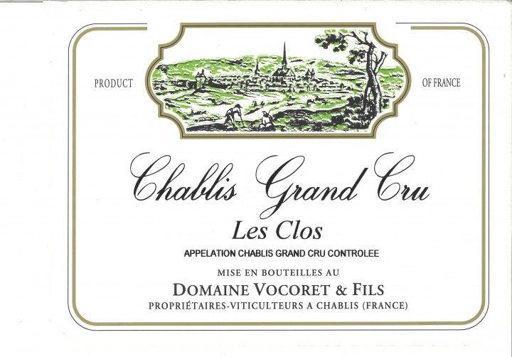 """French Wine Domaine Vocoret Grand Cru """"Le Clos"""" 2014 750ml"""