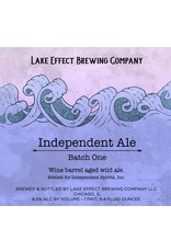 """Lake Effect Brewing Company """"Independent Ale, Batch One"""" Wine Barrel Aled Wild Ale Independent Spirits, Inc. Collaboration 750ml"""