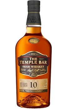 Irish Whiskey Temple Bar 10 Year Irish Whiskey 750ml