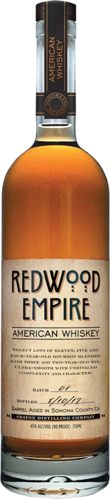 "Whiskey Graton Distilling Co. 'Redwood Empire"" Americna Whiskey 750ml"