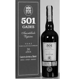 "Sherry Bodegas 501 ""Gades"" Amontillado 30 Year Old VORS 750ml"