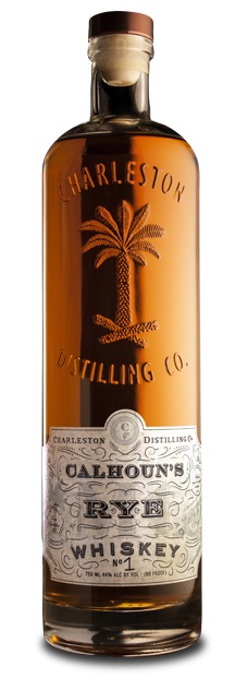"Rye Whiskey Charleston Distilling ""Calhoun's Straight Rye Whiskey Charleston, SC 750ml"