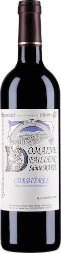 French Wine Domaine Faillenc Sainte Marie Corbieres Rouge 2016 750ml