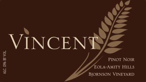 American Wine Vincent Bjornson Vineyard Pinot Vineyard Eola-Amity Hills 2016 750ml