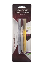 Miscellaneous Wine Glass Markers (Gold and Silver) Set of Two