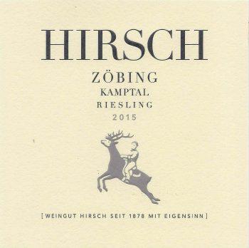 Austrian Wine Hirsch Zobing Kamptal Riesling 2015 750ml