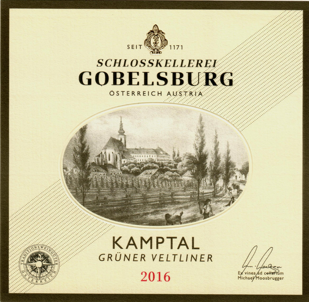 Austrian Wine Gobelsburg Gruner Veltliner Kamptal 2017 750ml