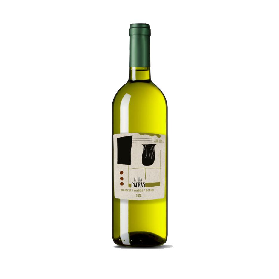Greek Wine Papras White Blend 2017 750ml