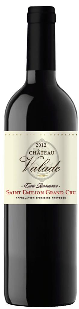 "French Wine Chateau Valade ""Cuvée Resaissance"" Saint-Emilion Grand Cru 2012 750ml"