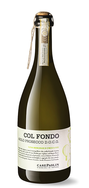 """Sparkling Wine Case Paolin """"Col Fondo"""" Asolo Prosecco 750ml"""