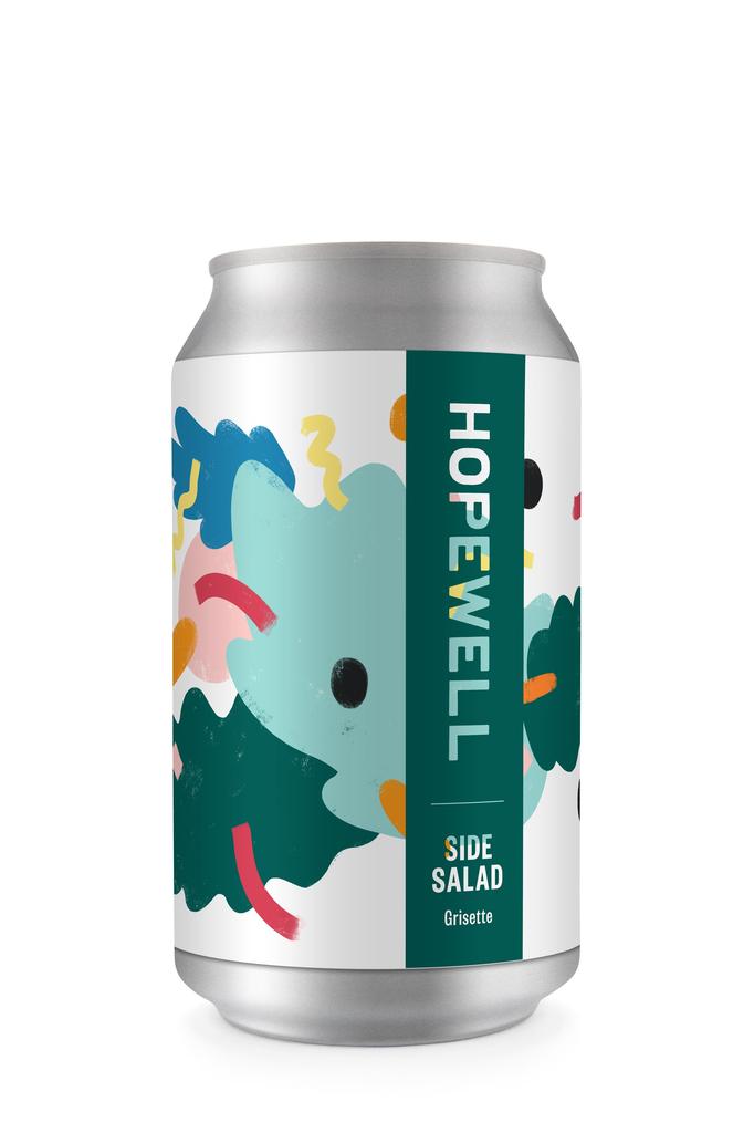"Beer Hopewell Brewing ""Side Salad"" Grisette 12oz 4pk"