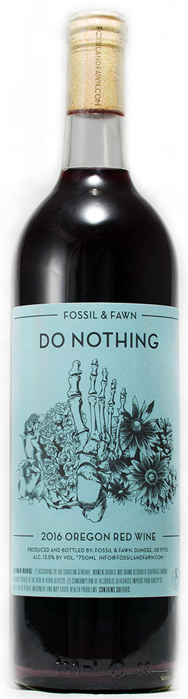 """American Wine Fossil & Fawn """"Do Nothing"""" Oregon Red Wine 2018 750ml"""