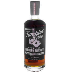 Bourbon Tumblin' Dice Straight Bourbon Whiskey Heavy Rye Mashbill 3 Year 100 Proof 750ml