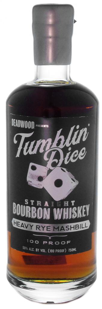 Bourbon Tumblin' Dice Straight Bourbon Whiskey Heavy Rye Mashbill 3 Year 100 Proof 750ml