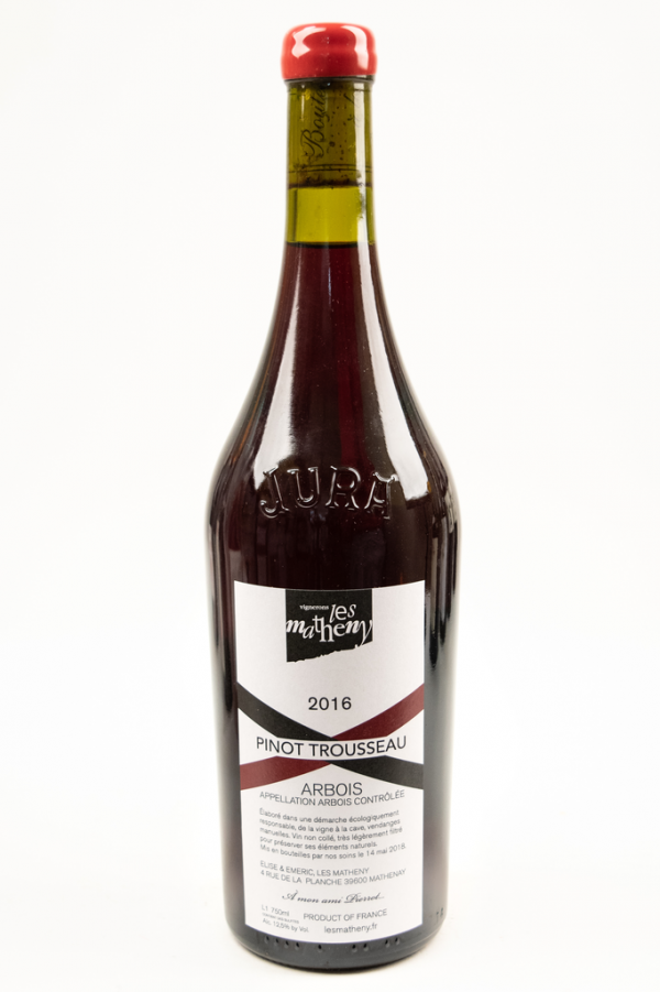 French Wine Les Matheny Pinot Trousseau Arbois 2016 750ml