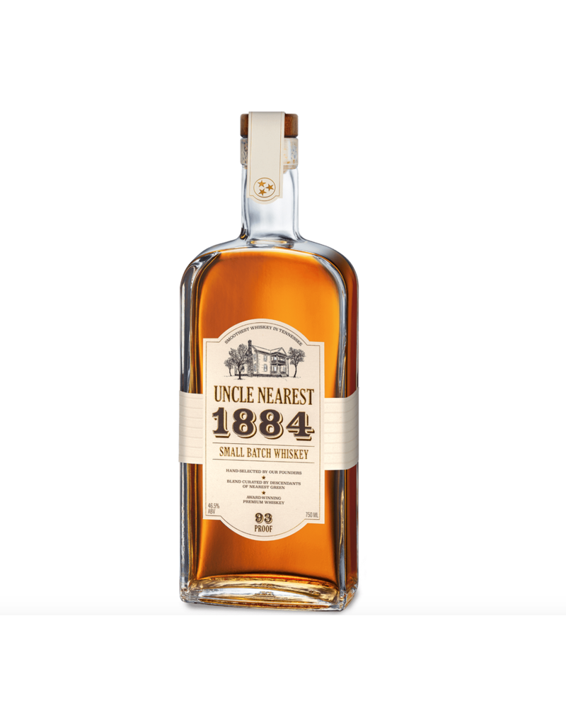 "Whiskey Uncle Nearest ""1884"" Small Batch Whiskey 93 Proof 750ml"