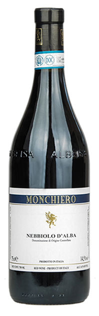 Italian Wine Monchiero Nebbiolo d'Alba 2016 750ml