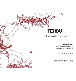 "American Wine Matthaison ""Tendu"" Red Wine California 2018 750ml"
