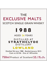 The Exclusive Malts Strathclyde 1988 26 Year Cask Strength 55.1% 750ml