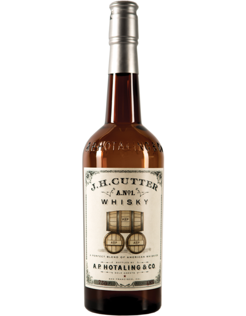 """Whiskey A.P. Hotaling & Co """"J.H. Cutter A.No. 1"""" Whisky 750ml"""