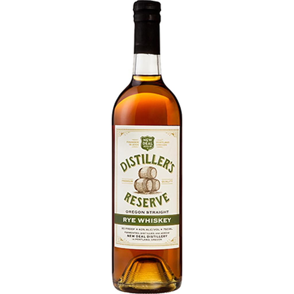 "Rye Whiskey New Deal Distillery ""Distiller's Reserve"" Oregon Straight Rye Whiskey 750ml"