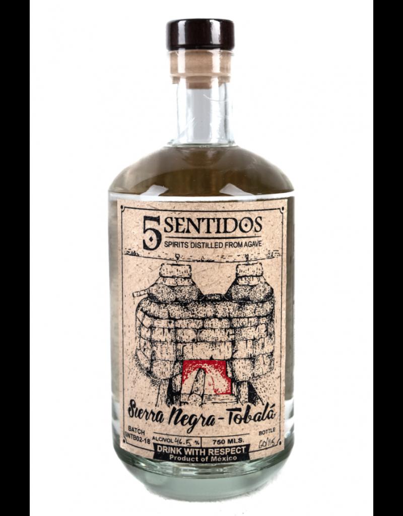 Tequila/Mezcal Cinco Sentidos Sierra Negra-Tobala Agave Spirit 750ml
