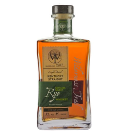 "Rye Whiskey Wilderness Trail ""Settlers Select"" Single Barrel Kentucky Straight Rye Whiskey 750ml"