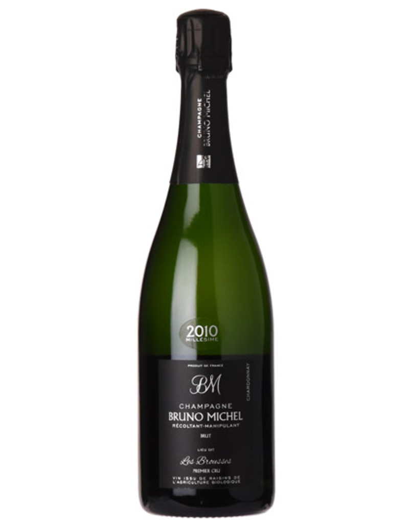 "Sparkling Wine Bruno Michel ""Les Brousses"" Blanc de Blanc 1er Cru Champagne 2010 750ml"