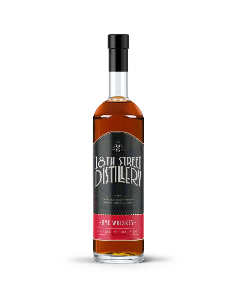 Rye Whiskey 18th Street Distillery Rye Whiskey 750ml