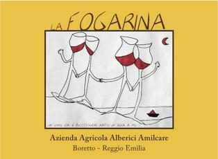 """Italian Wine Alberici Amilcare """"Fogarina"""" Lambrusco dell'Emilia Rosso 750ml"""