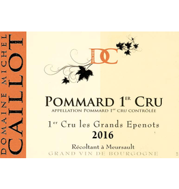 French Wine Domaine Michel Caillot Pommard-Epenots 1er Cru les Grandes Epenots 2010 750ml