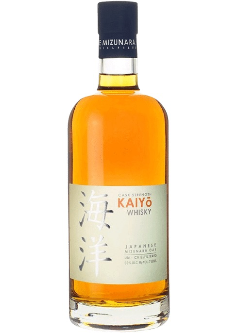 Whiskey Kaiyo Cask Strength Whisky aged in Japanese Mizunara Oak Un-Chillfiltered 750ml