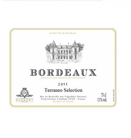 "French Wine Ducourt Bordeaux Blanc ""Terraneo Selection"" Sauvignon-Colombard 2018 750ml"