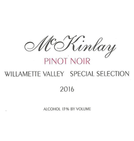"McKinlay Pinot Noir ""Special Selection"" Willamette Valley 2014 750ml"