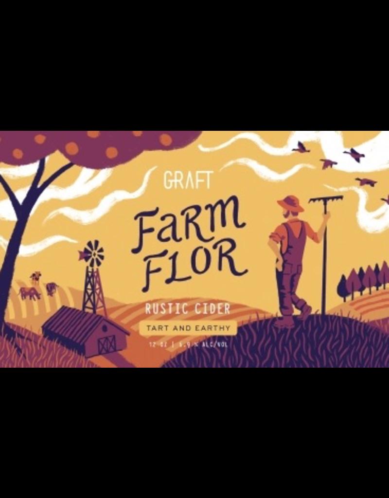 "Graft ""Farm Flor"" Dry Table Cider 12oz 4pk"