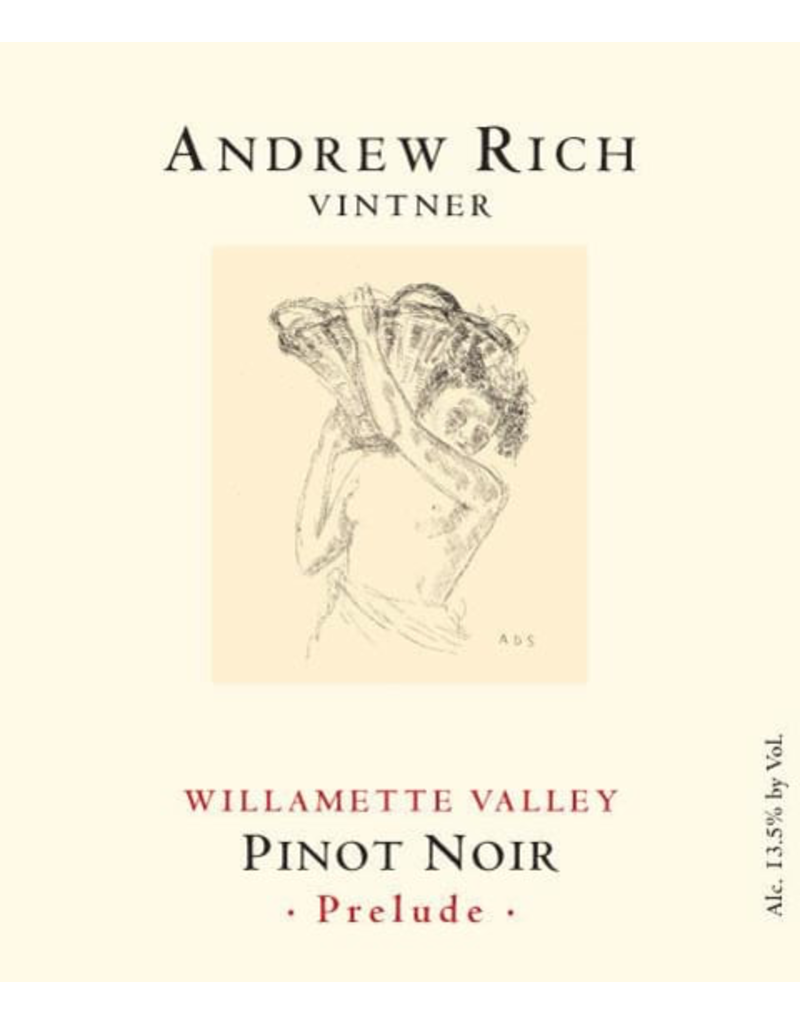 """Andre Rich """"Prelude"""" Pinot Noir Willamette Valley 2017 750ml"""