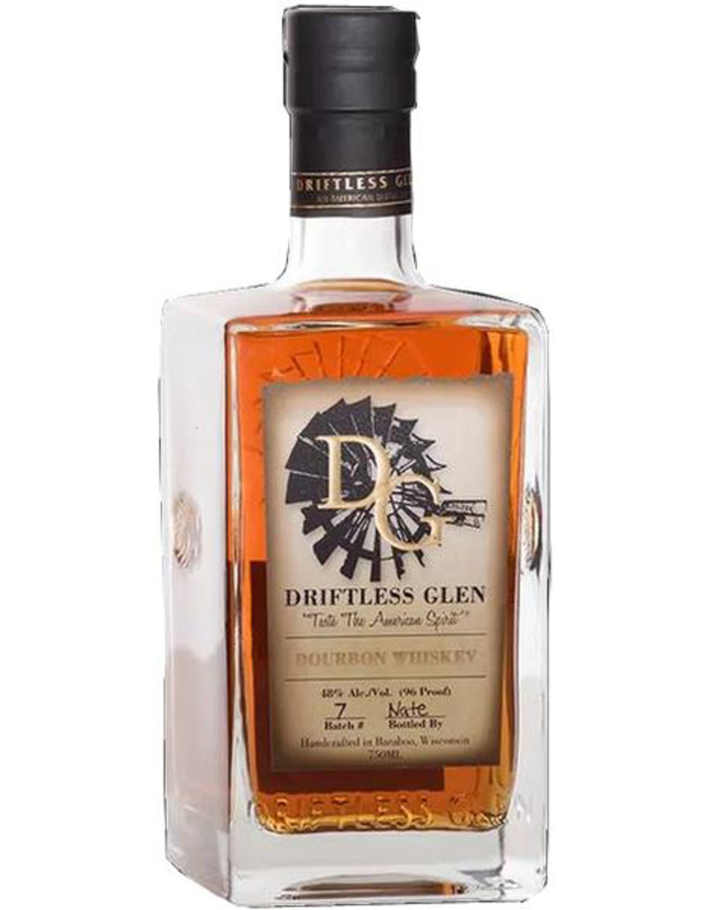 Driftless Glen Bourbon Whiskey, Baraboo Wisconsin 750ml