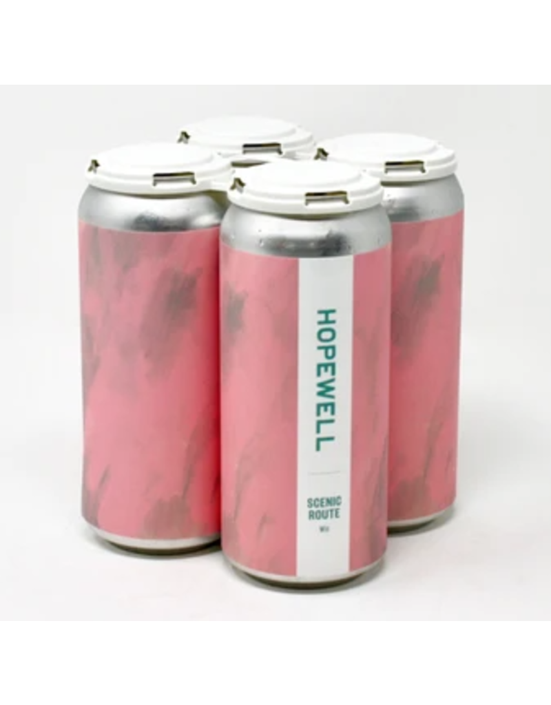 """Hopewell """"Scenic Route"""" Wit Beer 16oz 4pk Cans"""