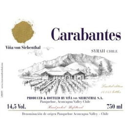 "Vina von Siebenthal ""Carabantes"" Syrah Aconcagua Valley Chile 2007 750ml"