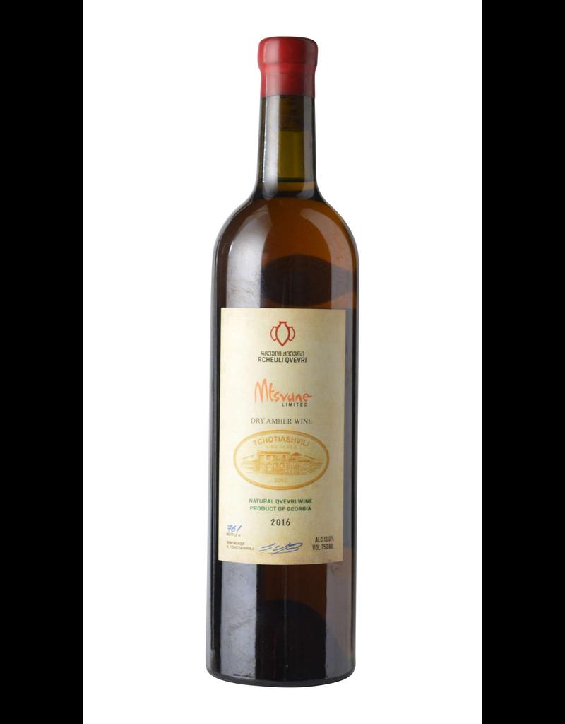 Tchotiashvili Mtsvane Dry Amber Wine Georgia 2016 750ml