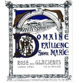 """French Wine Faillenc St Marie """"Rosé des Glaciéres"""" Corbiéres 2017 750ml"""