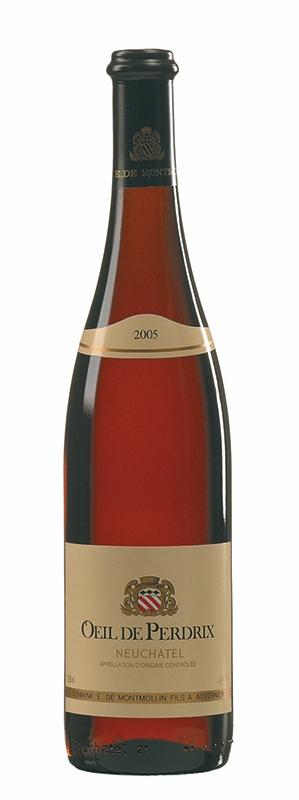 Swiss Wine Domaine de Montmollin Oeil de Perdrix Neuchatel Rosé Switzerland 2017 750ml