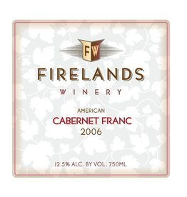 American Wine Firelands Cabernet Franc Isle St. George Ohio 2015 750ml