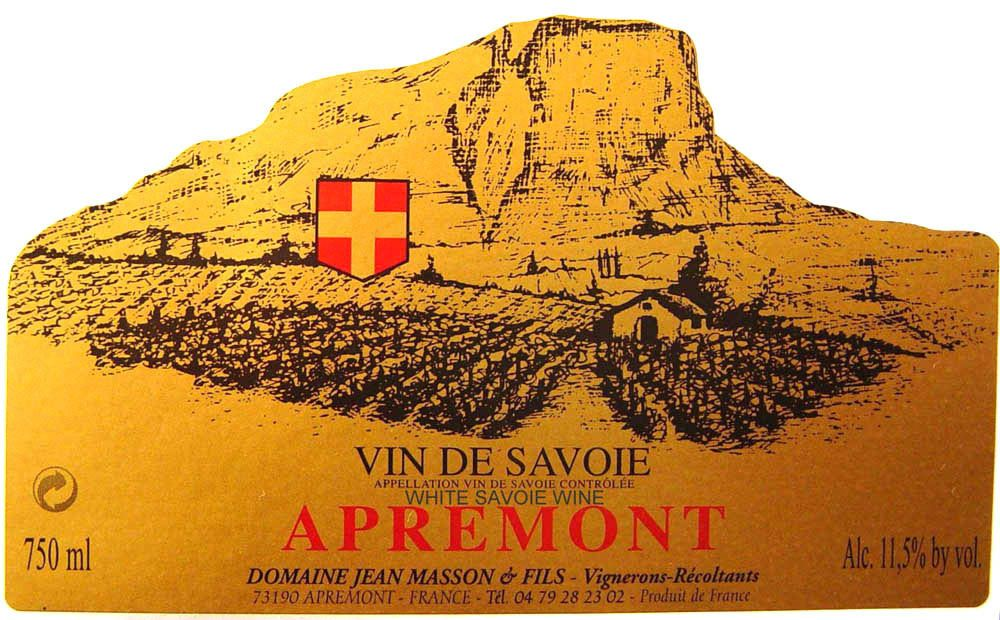 French Wine Domaine Jean Masson et Fils Apremont Vieille Vigne Traditionelle 2017 750ml