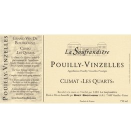 """French Wine Bret Brothers Pouilly-Vinzelles """"La Soufrandiére"""" Climat """"Les Quarts"""" 2009 750ml"""