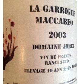 "Domain Jorel ""La Garrigue Maccabeo"" Ranico Seco 2003 750ml"