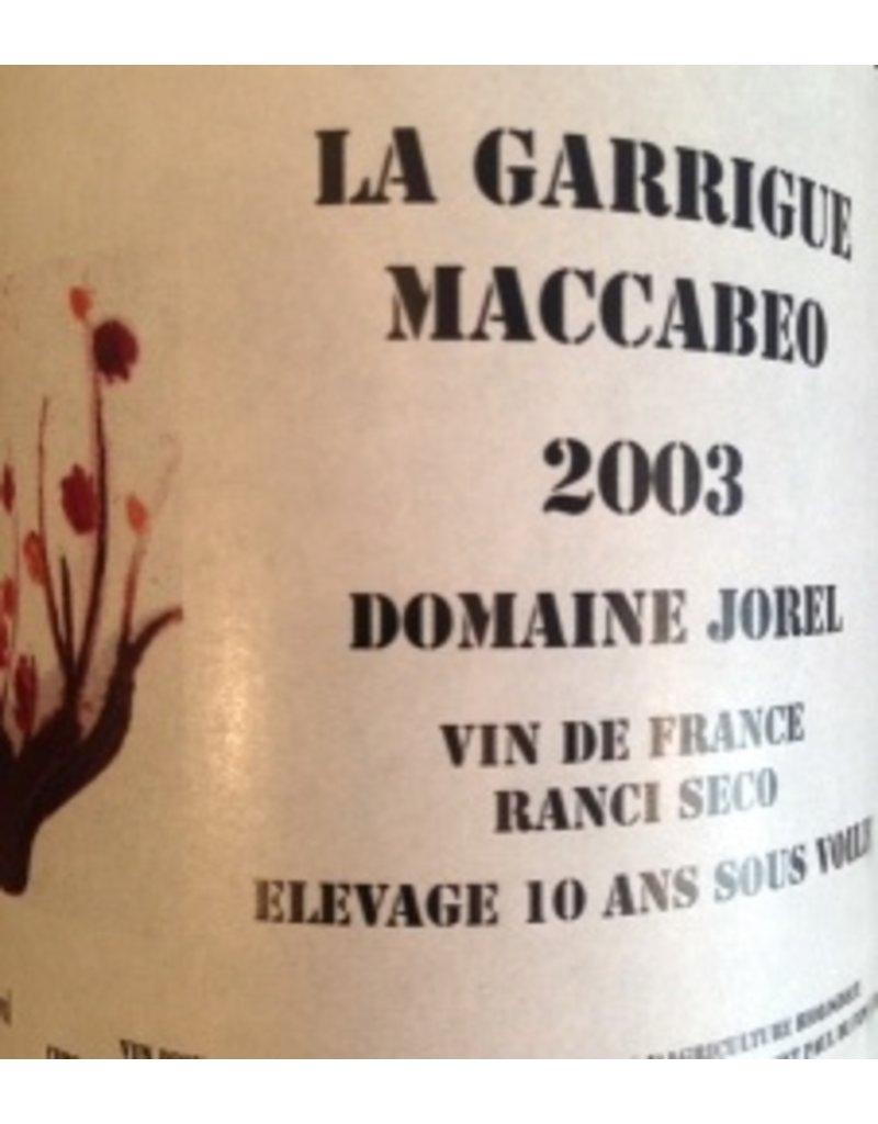 "Dessert Wine Domain Jorel ""La Garrigue Maccabeo"" Ranico Seco 2003 750ml"