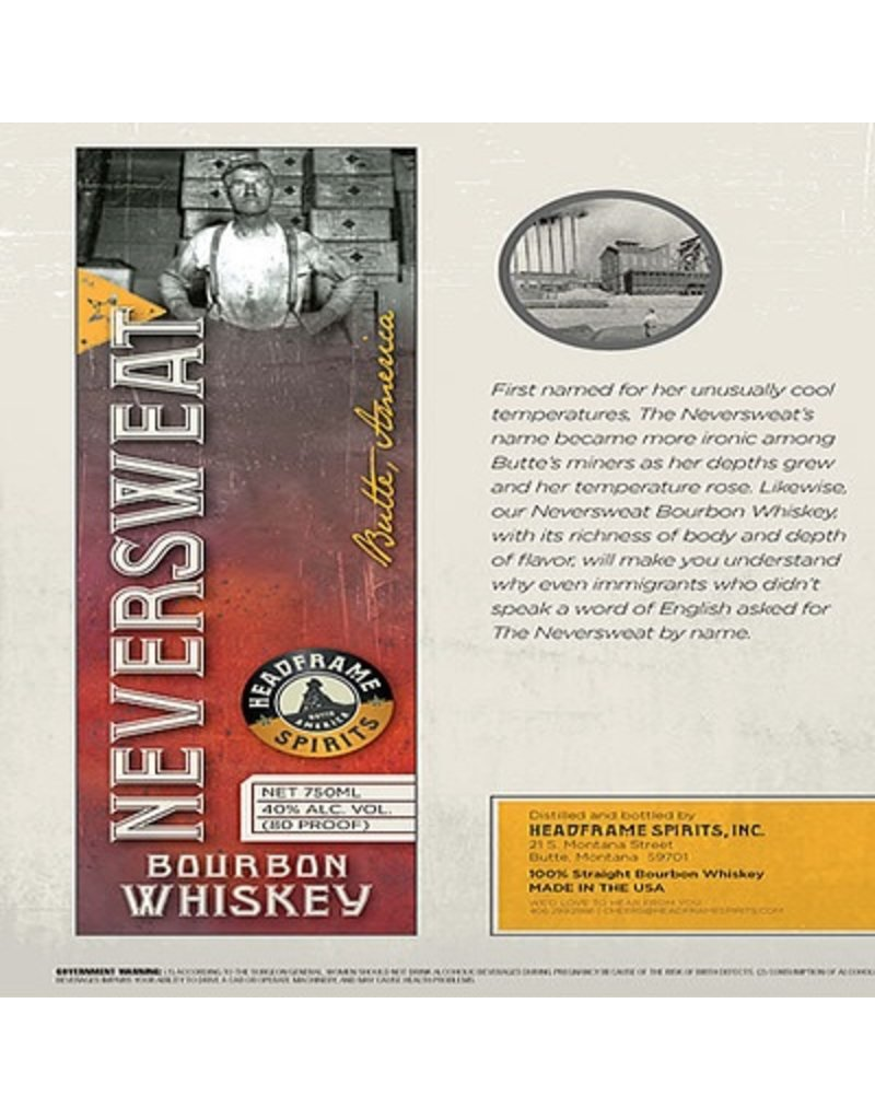 Headframe Neversweat Bourbon 750ml
